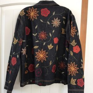 Chico's Jackets & Coats - Chico's Embroidered Jens Jacket size 1